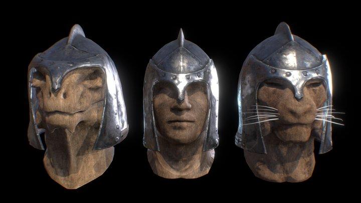 Iron Helmet - Playable Races Variants 3D Model