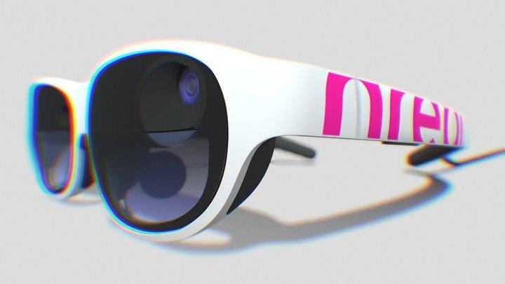 Nreal Light-White/Magenta 3D Model
