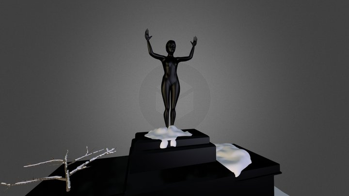 Icy Statue 3D Model