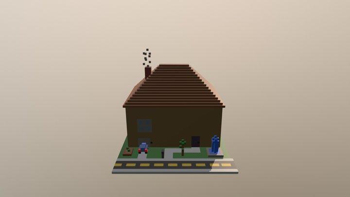 Voxel House 3D Model