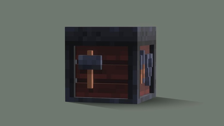 3D Smithing Table 3D Model