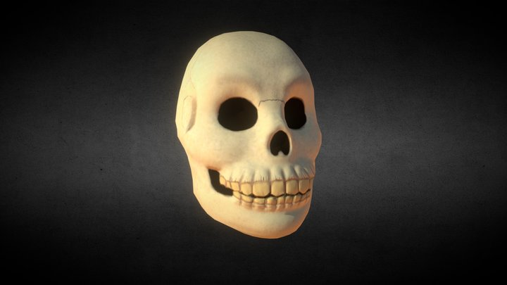 Stylized Skull 3D Model