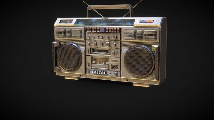 Portable Boombox 3D Model