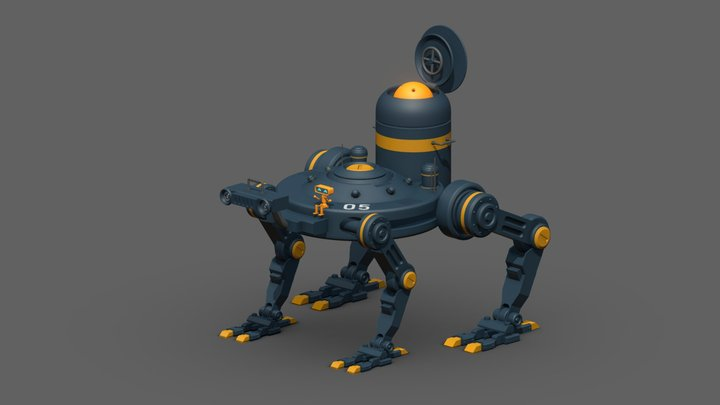 [Concept Model] A Bot and It's Friends 3D Model