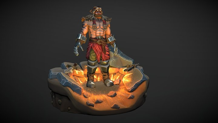 Villtur: Barbarian 3D Character 3D Model