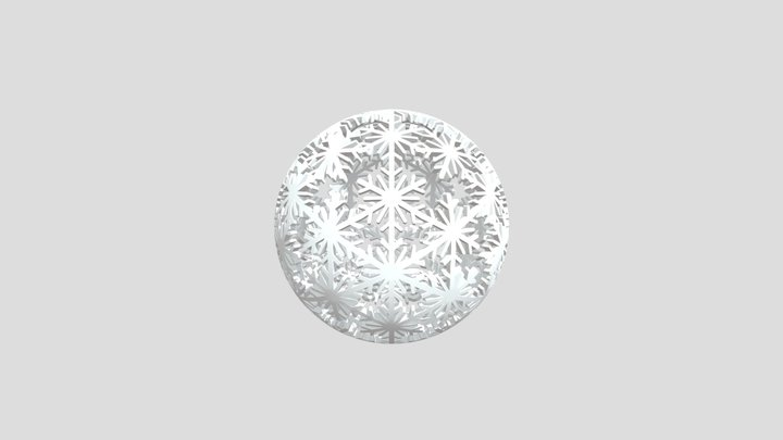 Snowflake Orb 3D Model