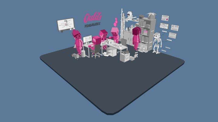 Office scene 03 3D Model