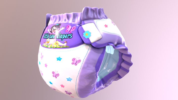 Litte cow Diapers! - secondlife model preview 3D Model