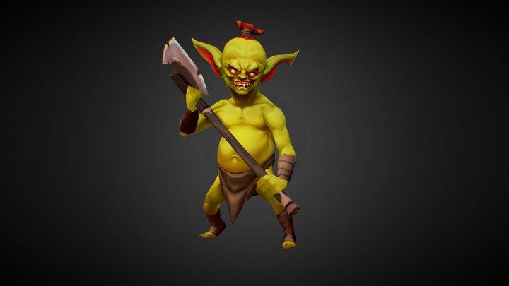 Goblin Melee 3D Model