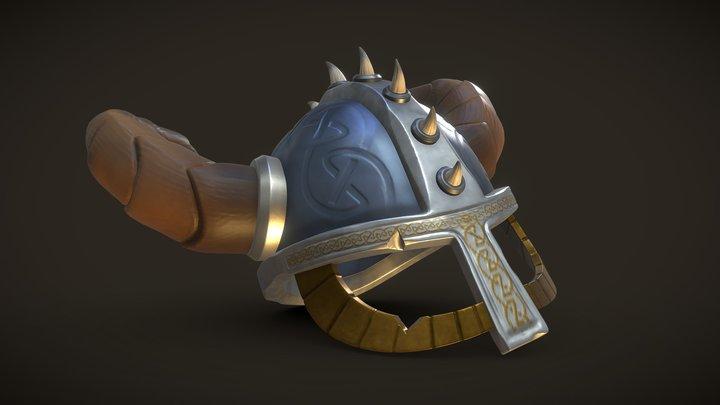DS Asset01 Viking Helmet 3D Model