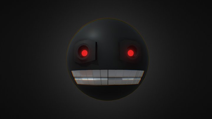 Creepy Robot face 3D Model