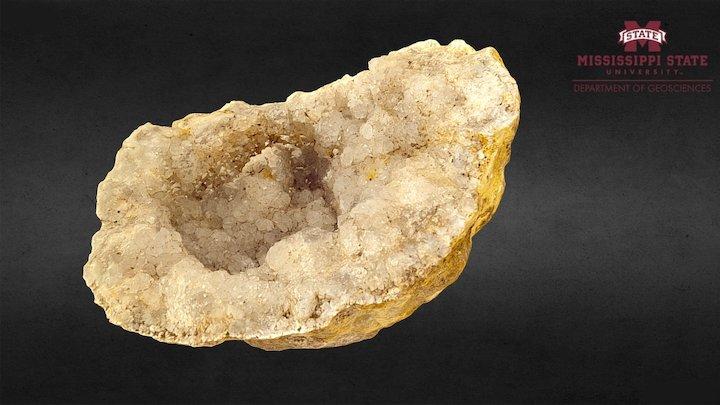 A quartz geode 3D Model