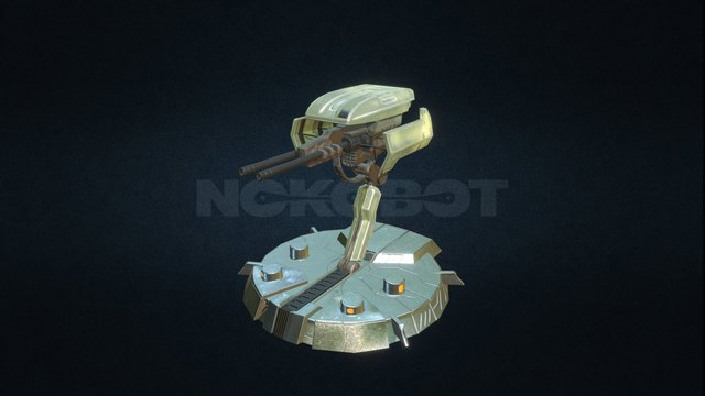 Gun Turret 3D Model