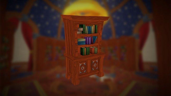 Mozilla Hubs Challenge - Bookcase 3D Model