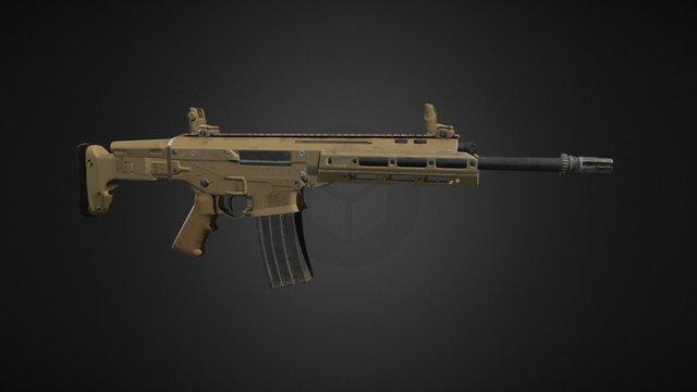 Adaptive Combat Rifle (Maya, Quixel) 3D Model