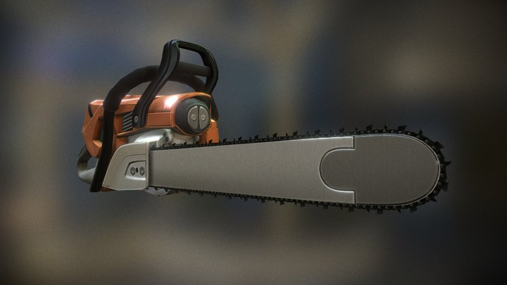 Animated Chainsaw | Low-Poly Version 3D Model