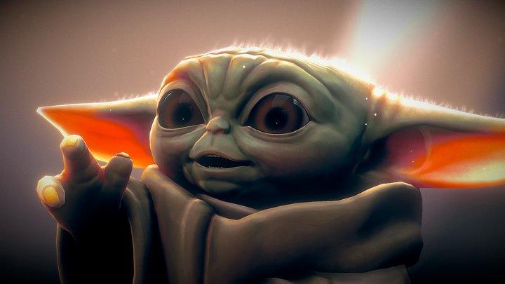 Grogu - Baby Yoda 3D Model