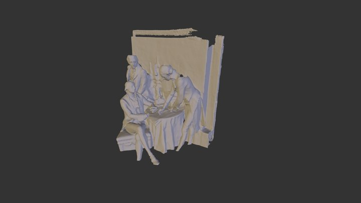 Bas Relief of Louisiana Purchase Signing 3D Model