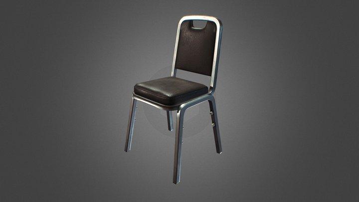 Diner Chair PBR 3D Model