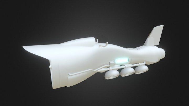 Hover racer untextured 3D Model