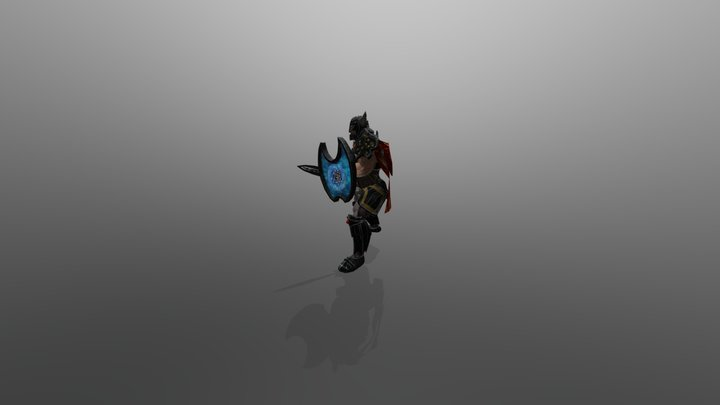 Warrior defender 3D Model