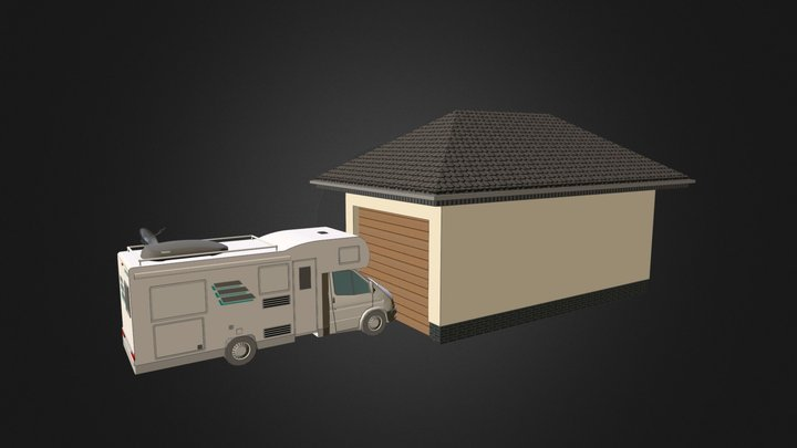 Wiata garażowa 3D Model