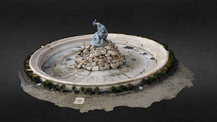 Buda Castle Fountain 3D Model