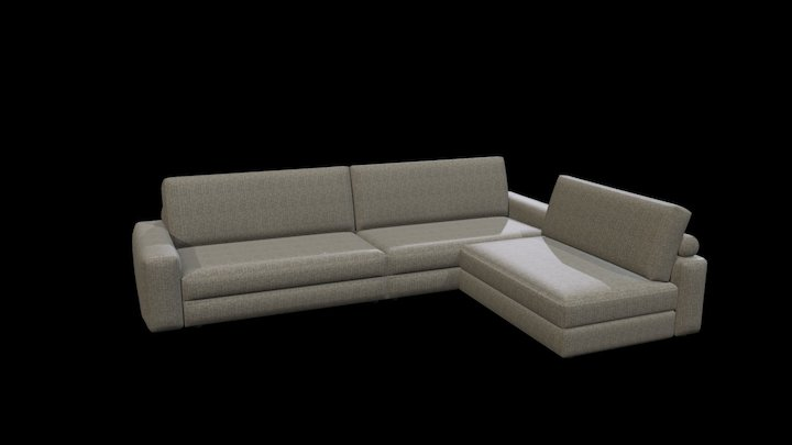 Joey Sofa with Removable Chaise Longue 3D Model