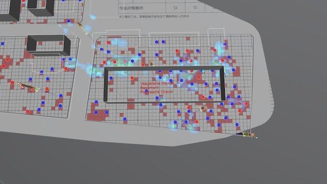 Toyosu Latest pollution DATA(170117) 3D Model