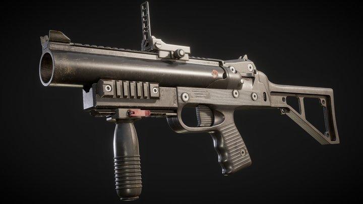 Game Ready PBR Grenade Launcher GL-06 3D Model