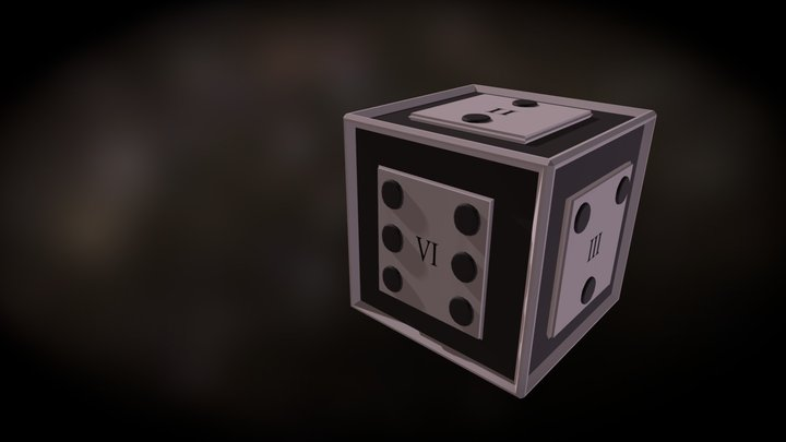 Roman Numeral Dice (Version 2) 3D Model