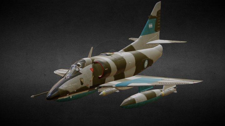 A-4C Skyhawk 3D Model