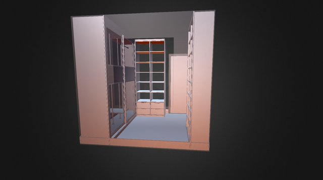 Walk In Wardrobe 3D Model