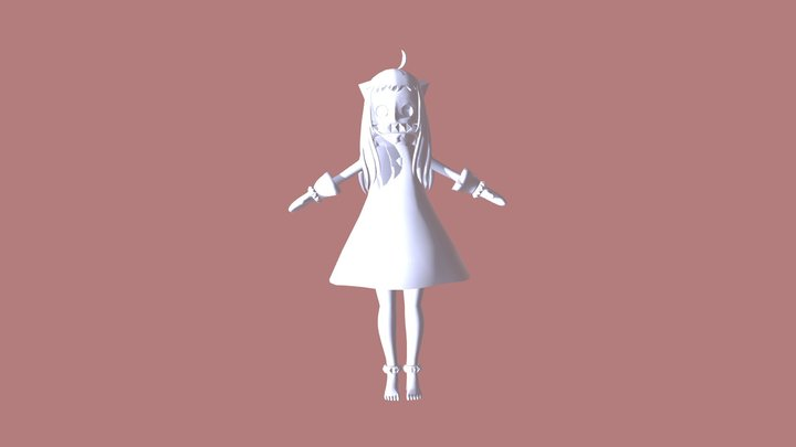 New Princess witch Eye Tracker and Dances 3D Model