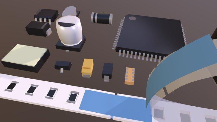 Surface Mount Parts 3D Model