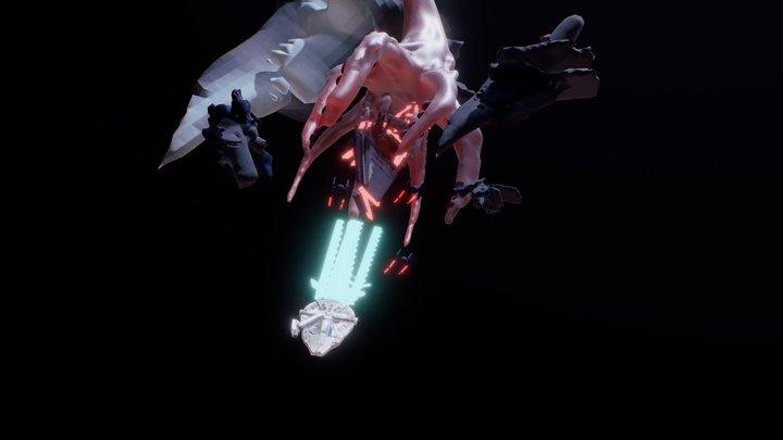 Millennium Falcon Chase 3D Model