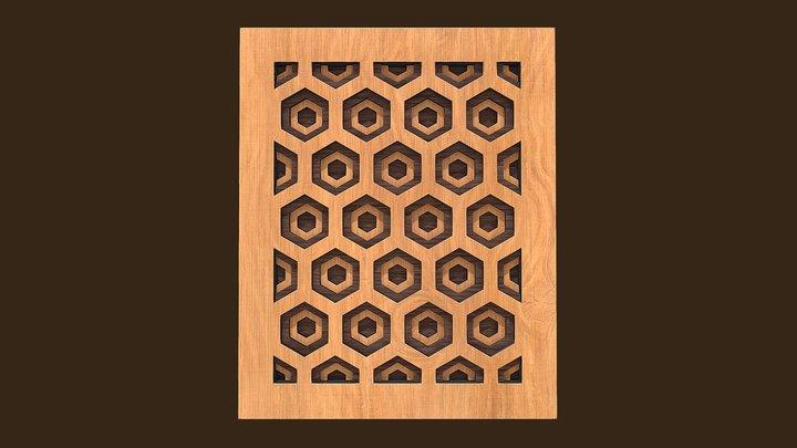 Honeycomb Wall Art 3D Model