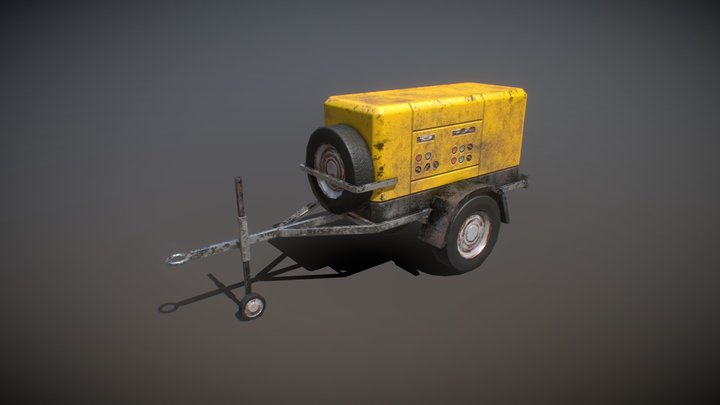 Generator Trailer 3D Model
