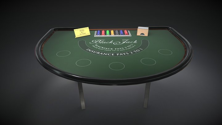 Blackjack 3D Model
