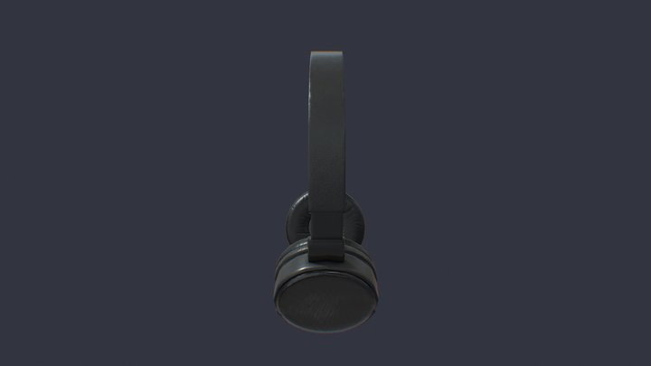 Headphones Sony low 3D Model
