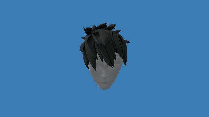 Hair - Male Spiky Anime 3D Model