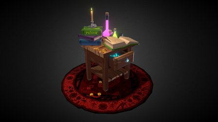 Potions Desk 3D Model