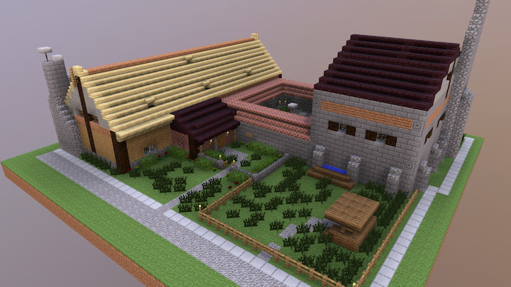Greenfeathers Inn & Festhall 3D Model