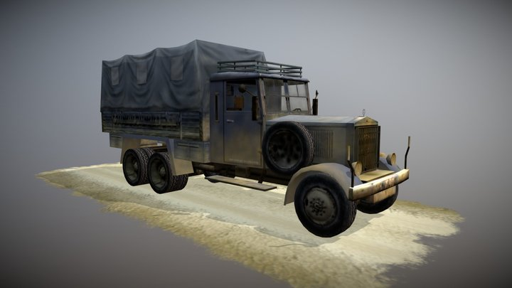Indiana Jones mercy truck Insane Mod 3D Model
