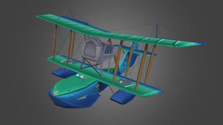 Stylized WW1 Aeromarine 40 3D Model