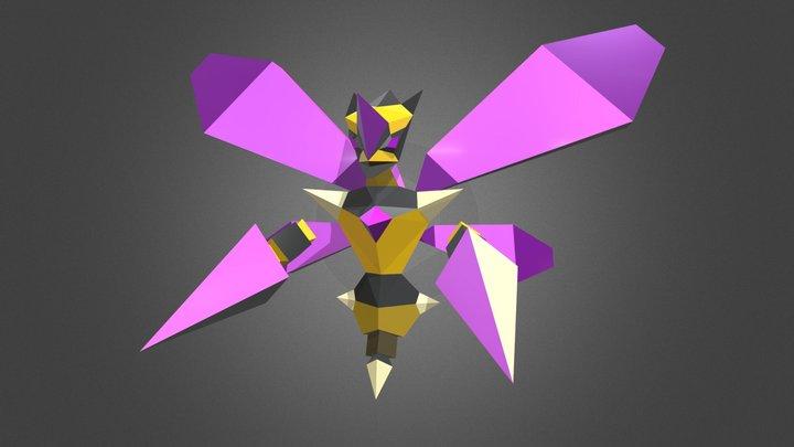 Cyber Wasp 3D Model