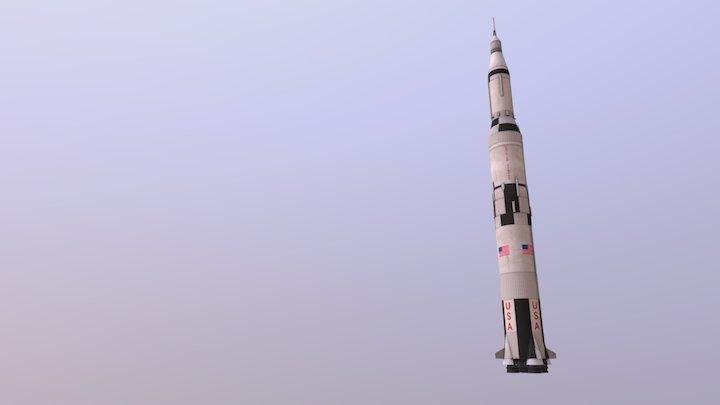 Saturn Rocket 3D Model