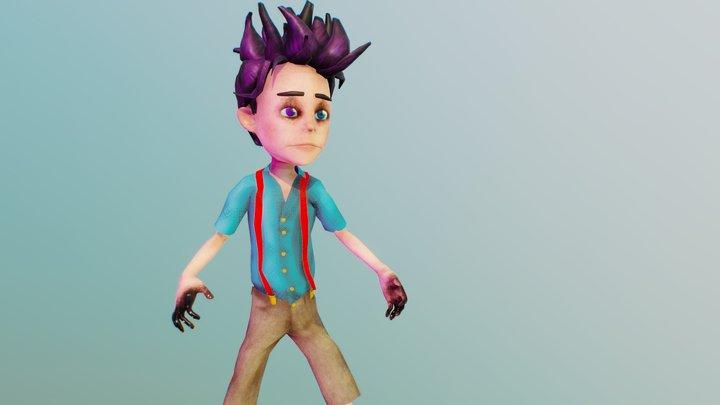 Dark Psychic Kid 3D Model