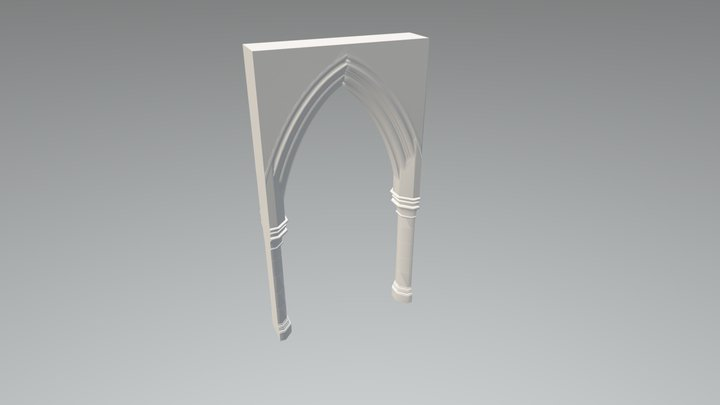 Christchurch Cathedral Naive Arch 3D Model