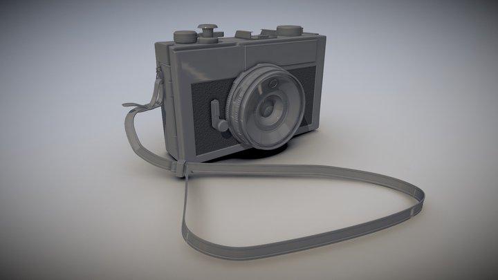 High poly Vintage Camera 3D Model